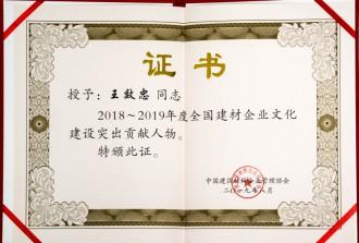 2018~2019年度全国建材企业文化建设突出贡献人物