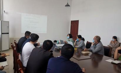 柏诺新材(北京)科技有限公司技术人员来我厂开展特种砂浆施工技术培训会